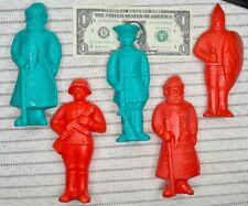 Lot 5 Vintage Soviet Ussr 6.1 inch Plastic Toy Soldiers 1970 - 80s