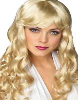 Movie Starlet Wig long female costume show girl hair TV Hollywood actress Rubies