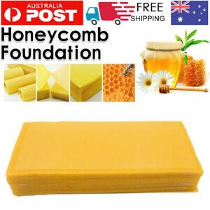 30Pc Honeycomb Foundation Bee Hive Wax Frames Waxing Beekeeping Equipment Bee AU