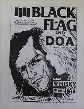 Black Flag and D.O.A. flyer R. Pettibon 1980