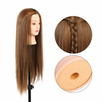 Hairdressing Salon Cosmetology Human Hair Practice Head Mannequin Train Tool TO