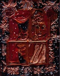 """""""SNOW"""" by Ruth Freeman ETCHED COPPER FOIL 8"""" X 10"""""""