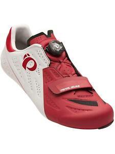 Pearl Izumi Elite Road V5 Road Bike Shoes - White / Red