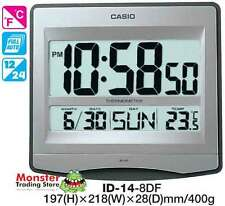 AUSSIE SELLER CASIO WALL CLOCK ID-14-8D ID14 TEMPERATURE 12 MONTH WARRANTY