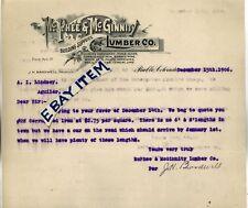 1906 LETTERHEAD Pueblo Colorado McPHEE & McGINNITY LUMBER COMPANY J. H. BardweLL