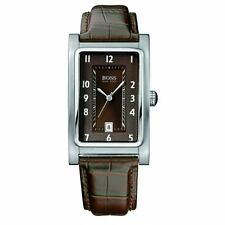 Hugo Boss 1512212 Jet and Aeroliner Brown Dial Leather Strap Men's Watch