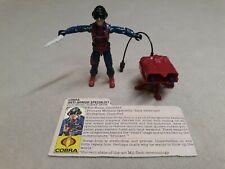 Vintage GI Joe Cobra Scrap Iron Action Figure ARAH 1984 NEAR COMPLETE