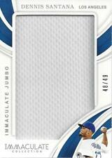 2019 Immaculate Collection Immaculate Jumbo #27 Dennis Santana /49 - NM-MT