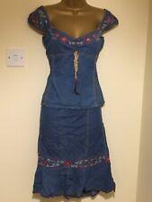 Karen Millen Denim Top And Skirt 12&14