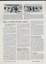 1948 Aviation Article Piper Aircraft Airplane Line Family Cruiser Vagabond