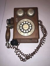 VINTAGE WESTERN ELECTRIC PUSH BUTTON WOODEN PHONE WALL MOUNT