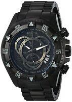 6474 Invicta Reserve Excursion Combat Swiss Chronograph Black SS Bracelet Watch