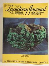 Lapidary Journal Magazine February 1976 Malachite Bisbee Arizona