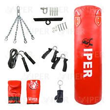 Viper 4FT Filled Boxing Punch Bag Set ,Gloves,Bracket,Chain MMA KICK