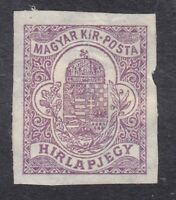Hungary - 1900 Newspaper Stamp Imperf - 20F Purple - SG N9 - Mint Hinged (C14J)