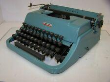 Antique 1956 Underwood Golden Touch  Leader Blue Vintage Typewriter #CB2745703