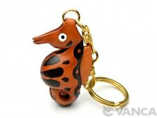 Sea Horse Handmade 3D Leather (L) Keychain/Keyring *Vanca* Made in Japan #56177