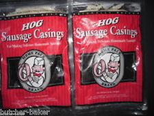 2-PAK Natural Hog Pork Sausage Stuffing Stuffer Casings Casing skins gut
