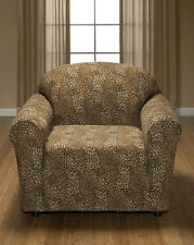 "JERSEY ""STRETCH"" CHAIR COVER THROW SLIPCOVER--LAZY BOY----LEOPARD----""WASHABLE""-"