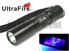 Ultrafire C3 UV Ultraviolet 365nm AA  LED Money Detector Cheque Flashlight