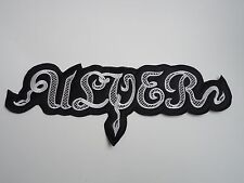 ULVER EMBROIDERED LOGO BLACK METAL BACK PATCH