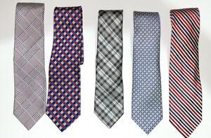 Lot of 5 Designer Silk Ties - Brooks Brothers, Bloomingdale's, Faconnable