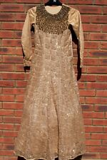 Asian Wedding Dress Lengha Walima Mehndi Indian Pakistani Gold Elegant Bridal 10