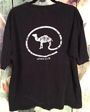Vintage Joe Camel Cigarette Logo Black With White Logo Faded Grunge T Shirt Xl
