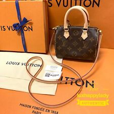 NEW LOUIS VUITTON Nano Speedy crossbody bag France RARE Full Gift Set Sold Out