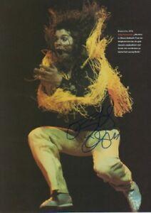 """Ozzy Osbourne """"Black Sabbath"""" Autogramm signed A4 Magazinbild ACOA"""