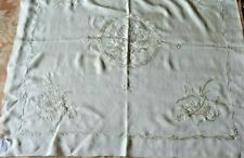 Antique Chinese Silk Hand Embroidered Bird Cream Bridal Handkerchief Or Scarf