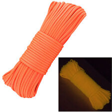 Glow in the Dark Paracord Fluorescent Luminous Parachute Rope Cord 100 Ft