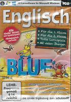 PC CD-ROM + Lernsoftware + Lernen + Spielen + Englisch + 1. / 2. Klasse + Win 8
