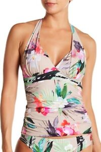 La Blanca Swimwear Beyond the Jungle Halter Tankini Top (size 4)