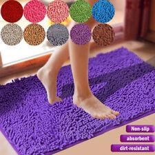 Non-slip Bath Rugs Soft Rug Shaggy Microfiber Floor Toilet Bathroom Fluffy Mats