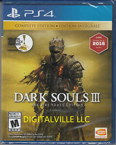Dark Souls III 3 The Fire Fades Edition PS4 Complete PlayStation 4 Brand New
