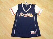 Women's Atlanta Braves M NWT Jersey Shirt Tee Bling Jersey