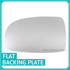 Left hand passenger side for Vauxhall Tigra 04-09 Flat wing mirror glass + plate
