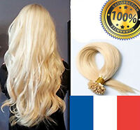 1G FR 100 EXTENSIONS POSE A CHAUD CHEVEUX 100% NATURELS
