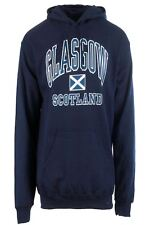Children's Harvard Style Hooded Jumper With Glasgow Text In Navy 7-8 Years