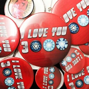 I Love You 3000 - Avengers Inspired Pin Badge - 77mm/58mm/33mm - Ironman Thor