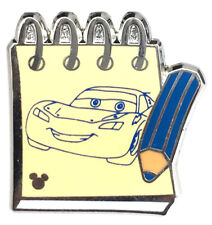 2014 Disney Hidden Mickey Character Sketch Pads Lightning McQueen Pin