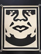 Shepard fairey obey giant face 3 crème signé rare art large print hand signed