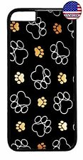 Paws Paw Pattern Dog Cat Pet Hard Rubber Case Cover For Apple iPhone 8/7/Plus