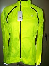 NEW M WOMENS SPECIALIZED DEFLECT HYBRID CYCLING WINDBREAKER JACKET BRIGHT YELLOW