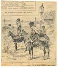 Russian WWI Ogonek Press-Cutting Turkmenian Cavalry on Warszawa Front