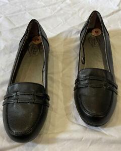 LifeStride Women's RESOnATE Loafer Black Sz 10W New Low Heel Loafer