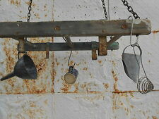 BEST DEAL Rustic Wooden Ladder Hanging Ceiling Pot Rack - Laundry Dry Rack