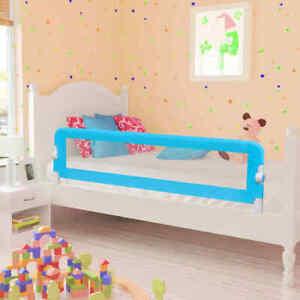 vidaXL 2x Sponde Letto per Sicurezza Bambini Blu 150x42 cm Protezioni Barriere