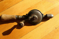 Vintage Yankee North Bros No. 1530 Ratcheting Egg Beater Hand Drill 5 speed